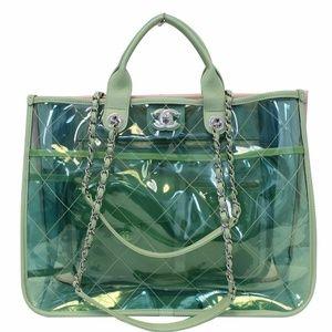 CHANEL Coco Splash Medium Lambskin PVC Quilted Bag